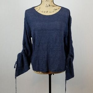 Vince Camuto light sweater drawstring sleeve J312
